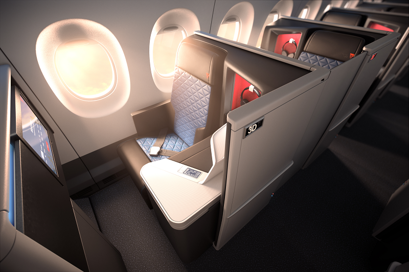 Delta in flight seating