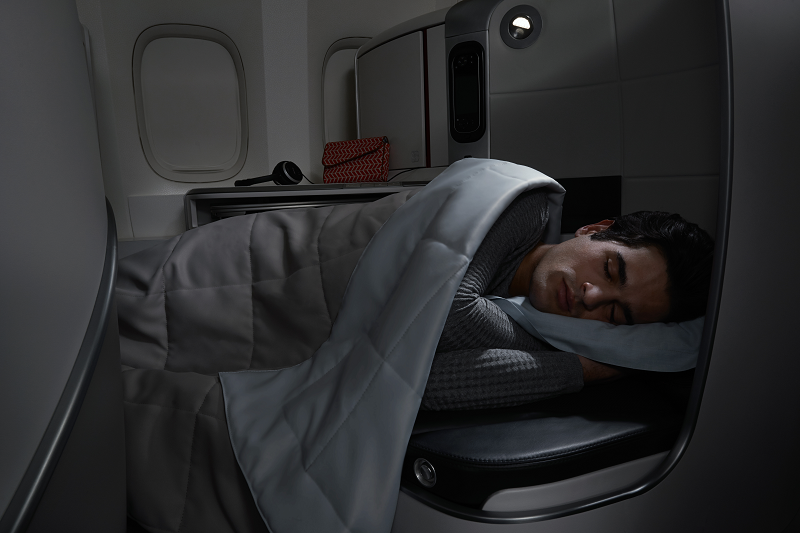 Sleeping on your Flight To Paris